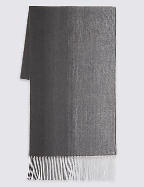 Écharpe tissée à motif dégradé, GRIS ASSORTI, catlanding