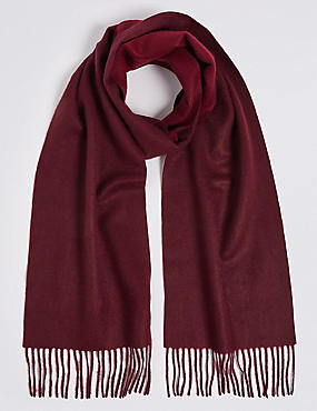 Reversible Pure Cashmere Woven Scarf, , catlanding