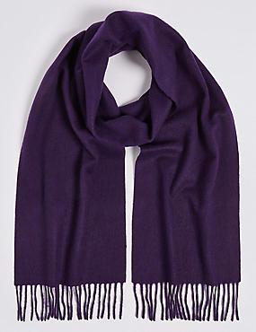 Pure Cashmere Woven Scarf, WINE, catlanding