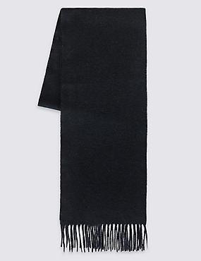 Men's Wool Scarf, NAVY, catlanding