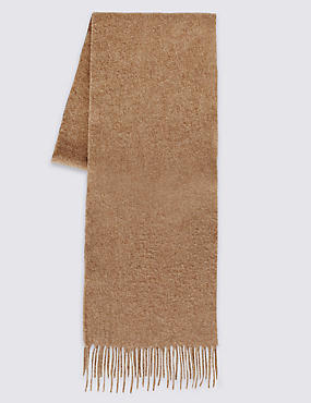 Men's Wool Scarf, CAMEL, catlanding