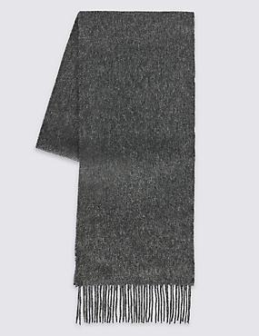 Men's Wool Scarf, CHARCOAL, catlanding