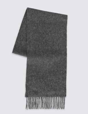 Однотонный шарф из чистой шерсти M&S Collection T096117M