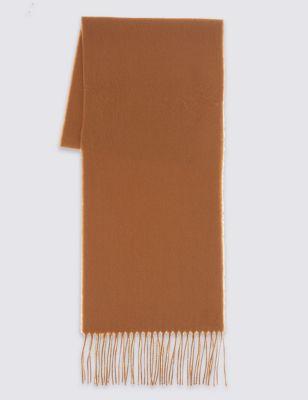 Классический однотонный шарф из ворсованного волокна