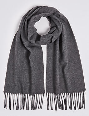 Brushed Woven Scarf, CHARCOAL, catlanding