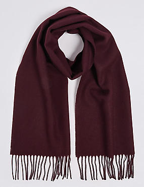 Brushed Woven Scarf, BURGUNDY, catlanding