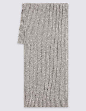 Pure Cotton Scarf with StayNEW™, GREY, catlanding