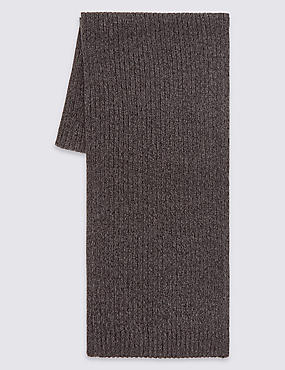 Pure Cotton Scarf with StayNEW™, CHARCOAL, catlanding