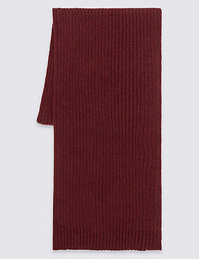 Pure Cotton Scarf with StayNEW™, BURGUNDY, catlanding