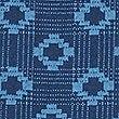 Pure Cotton Geometric Print Lightweight Scarf, BLUE MIX, swatch