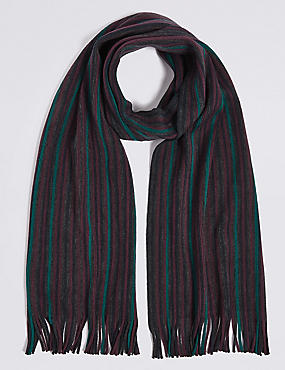 Striped Rochelle Scarf, BURGUNDY MIX, catlanding