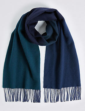 Ombre Extra Fine Wool Scarf, TEAL MIX, catlanding