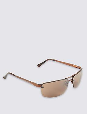 Gafas de sol sin montura con doble puente, BRONCE, catlanding