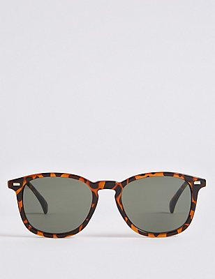 Keyhole Round Frame Sunglasses, BROWN, catlanding