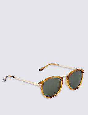 Round Frame Metal Bridge Sunglasses