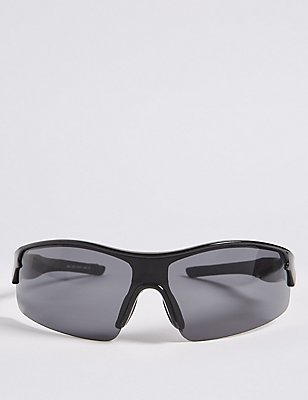 Anti-Fog Sports Wrap Sunglasses, BLACK, catlanding