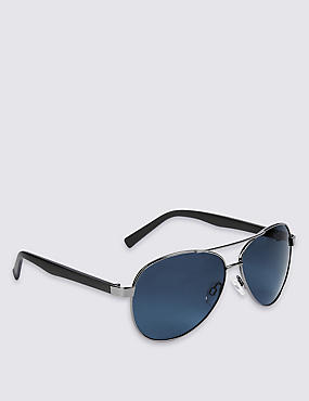 Tear Drop Aviator Sunglasses, NAVY, catlanding
