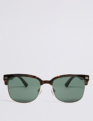 Retro D Frame Sunglasses, BROWN MIX, catlanding