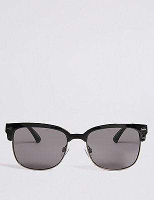 Retro Sunglasses, BLACK, catlanding