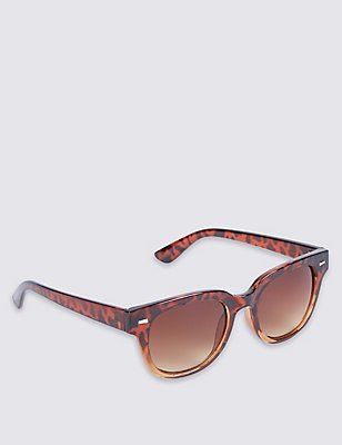Modern Graduated D Frame Sunglasses, LIGHT BROWN, catlanding