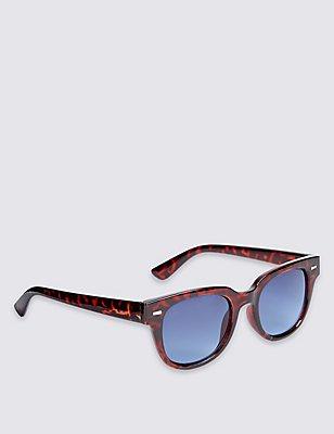 Modern D Frame Sunglasses, BROWN MIX, catlanding