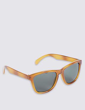 Retro Plastic Sunglasses, HONEY, catlanding