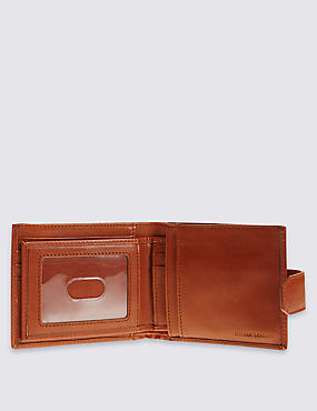 Leather Wallet with Cardsafe™, TAN, catlanding