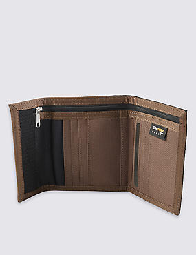 Cordura Trifold Wallet with Cardsafe™, KHAKI, catlanding