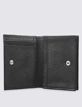 Leather Saffiano Card Case Wallet, , catlanding