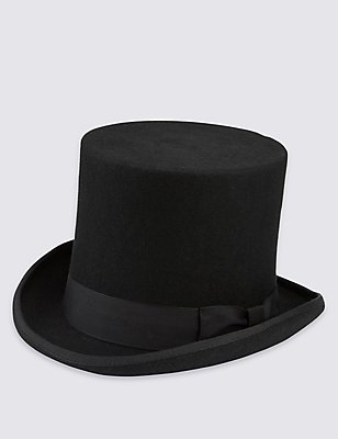 Pure Wool Hat, BLACK, catlanding