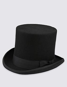 Sombrero 100% lana, NEGRO, catlanding