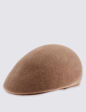 Pure Wool Flat Cap with Stormwear™, CAMEL, catlanding