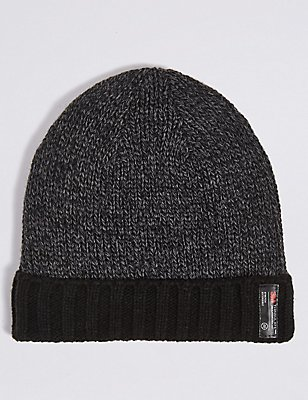 Thinsulate™ Beanie Hat, BLACK MIX, catlanding