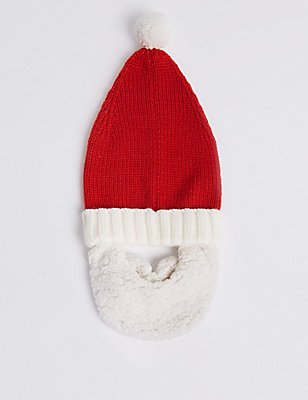 Father Christmas Beanie Hat, RED, catlanding