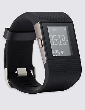 Fitbit Surge Wireless Activity Super Watch (Small), BLACK, catlanding