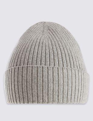 Вязаная шапка Beanie с отворотом и технологией StayNEW™