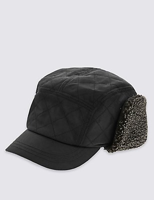 Pure Cotton Carpenter Hat with Stormwear™, BLACK, catlanding