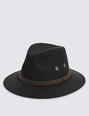 Pure Cotton Hat with Stormwear™, BLACK, catlanding