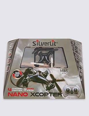 Remote Control Nano X Copter, BLACK, catlanding