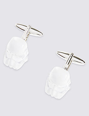 Star Wars™ Stormtrooper Mop Cufflinks, WHITE, catlanding