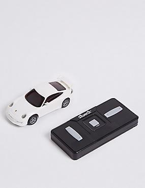 Porsche Remote Control Car 1:50, WHITE, catlanding