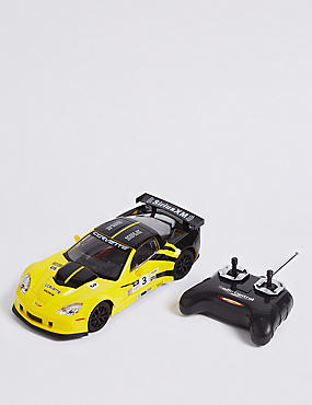 Corvette Remote Control Car 1:18, YELLOW, catlanding