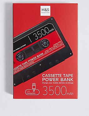 Retro Cassette Power Bank, RED, catlanding