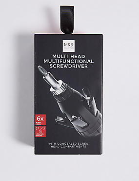 Multi Head Screwdriver, BLACK, catlanding