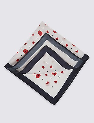 The Poppy® Collection Handkerchief, WHITE MIX, catlanding