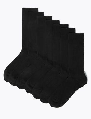 Однотонные хлопковые носки с технологиями Freshfeet™ и Cool Comfort™ (7 пар) от Marks & Spencer