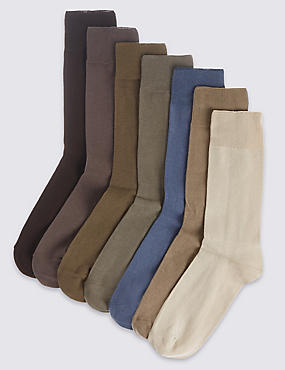 7 Pairs of Cool & Freshfeet™ Cotton Rich Socks , NEUTRAL, catlanding