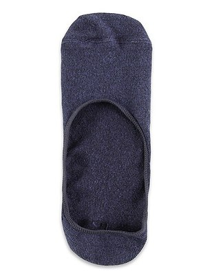2 Pairs of Freshfeet™ Cotton Rich Shoe Liner Socks, INDIGO, catlanding