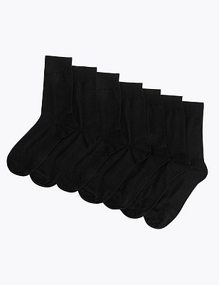 7 Pairs of Socks, NAVY, catlanding
