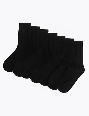 7 Pairs of Socks, BLACK, catlanding